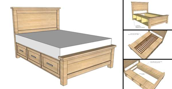 How To Build A Farmhouse Storage Bed